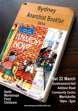 Sydney Anarchist Bookfair 2014 flyer
